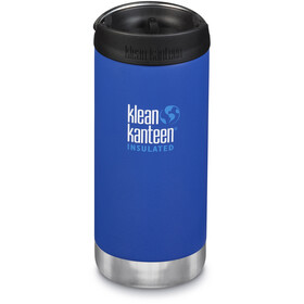 Klean Kanteen TKWide Bidón con Tapa Café 355 ml Aislamiento al Vacío, azul